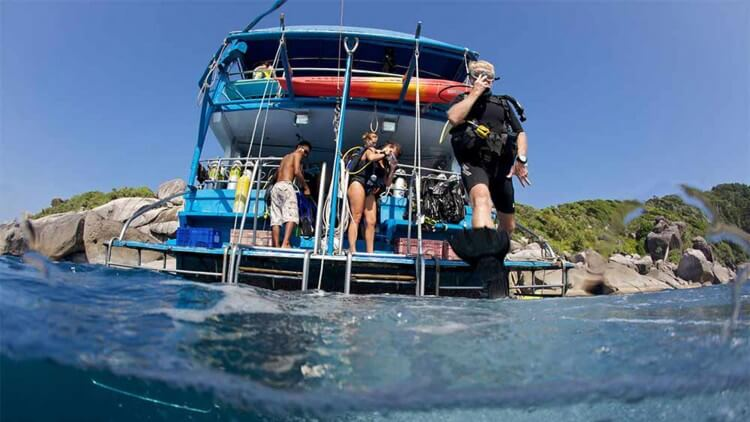 Back of Liveaboard Boat Similan Islands