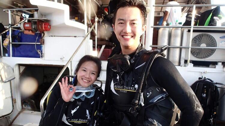 Happy Divers White Manta Scuba Diving Liveaboard Phuket Thailand