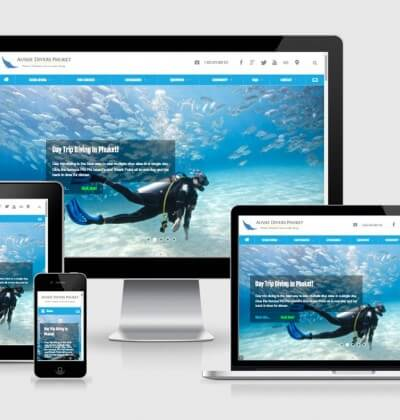 Brand new Aussie Divers Phuket Website for 2015