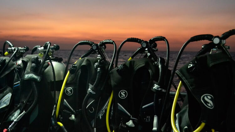 Scuba Diving Phuket Thailand Equipment Setup On Similan Liveaboard