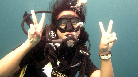 Excited Scuba Diving Phi Phi Best Day Trips Liveaboard Padi
