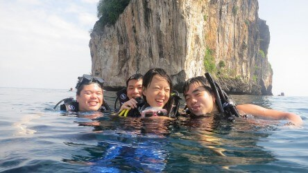Having Fun Padi Advanced Open Water Course Aussie Divers Phuket