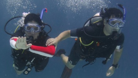 Underwater Navigation Dive with PADI and Aussie Divers Phuket