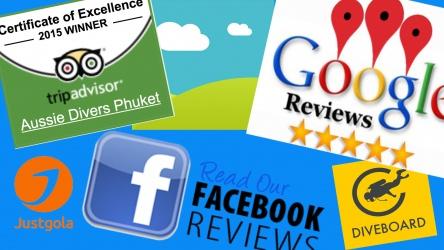 Best Review Tripadvisor Facebook Google Aussie Divers Phuket