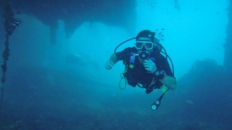 Exploring King Cruiser Wreck Phuket Thailand