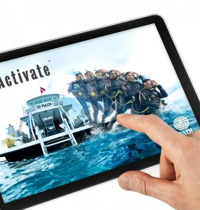 iPad Reactivate Aussie Divers Phuket Digital Scuba Diving Course