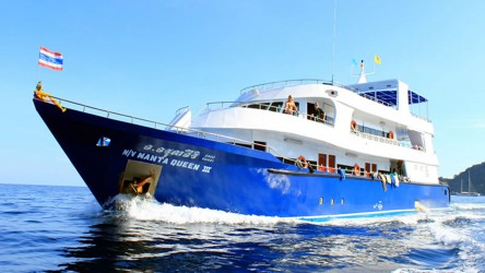 Manta Queen 3 Running Scuba Diving Liveaboard Phuket Thailand