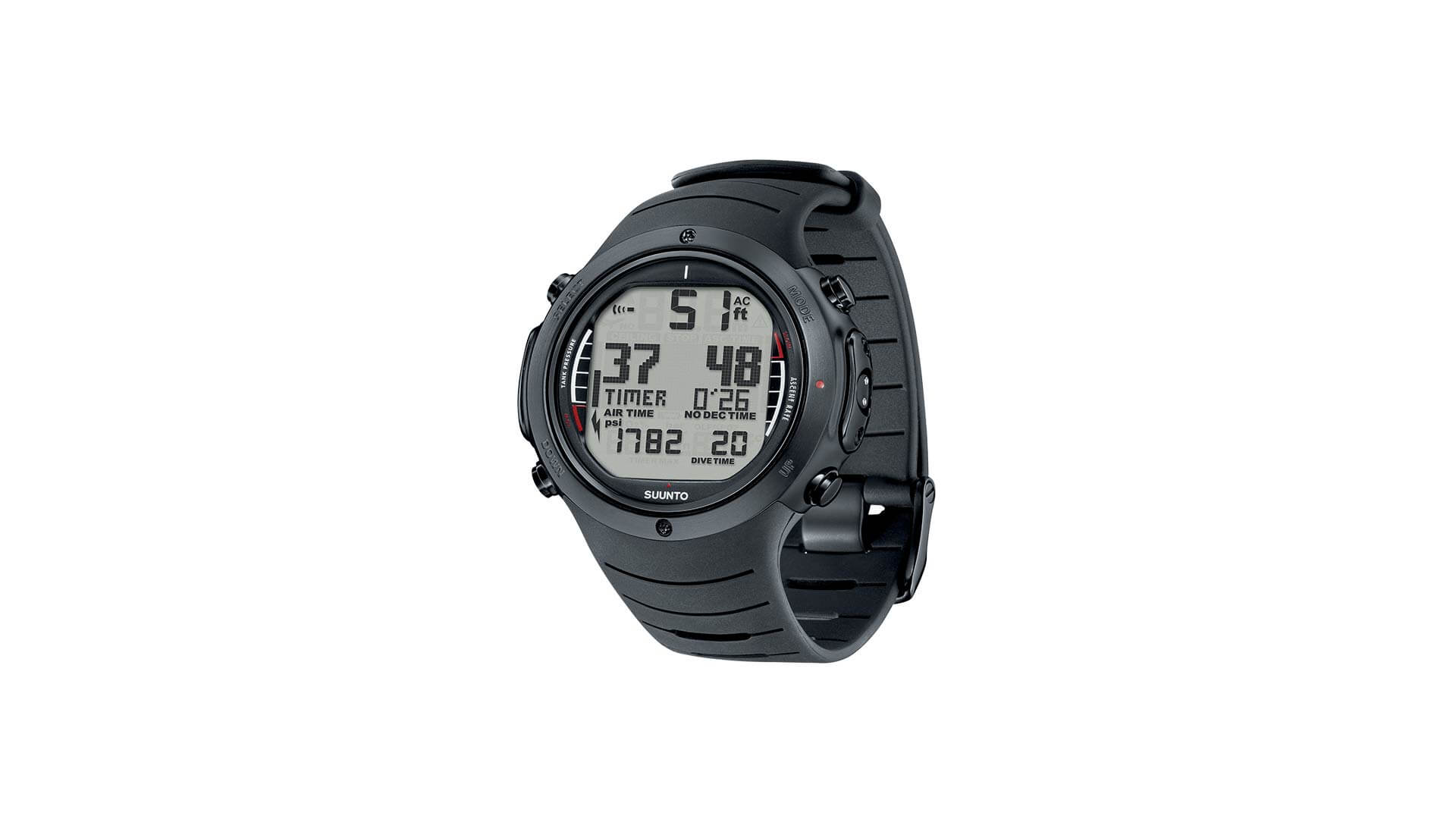 Suunto D6i all Black Elastomer – THB 36,440