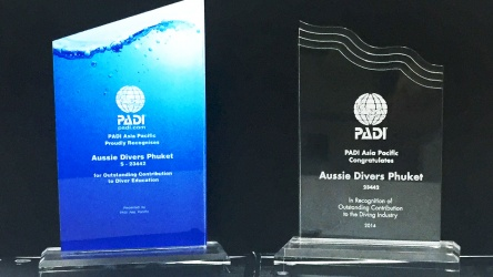 PADI Awards Aussie Divers Phuket Best Scuba Diving Thailand