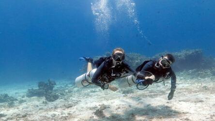 Simon Nina Sidemount PADI Scuba Diving Phuket Thailand