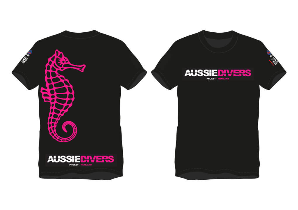 Aussie Divers T-Shirts – Hot Pink – Only THB 390