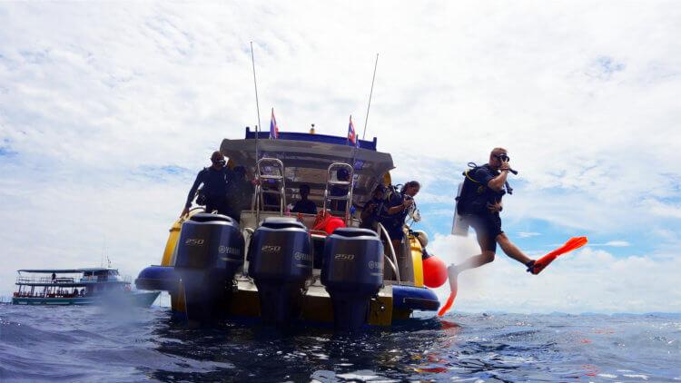 Aussie Divers Phuket Luxury Giant Stride