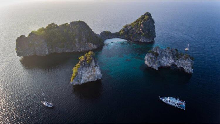 Ariel View Koh Haa Aussie Divers