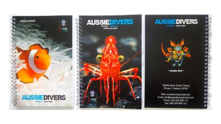 Aussie Divers Phuket Log Books