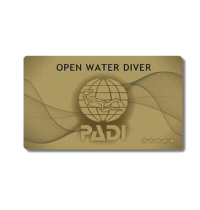 Aussie Divers Phuket PADI Gold Card