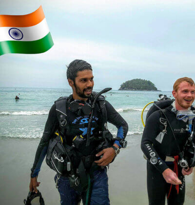 Ashish Chhabria Indian PADI Instructor Phuket Aussie Divers