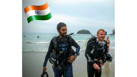 Ashish Chhabria Indian PADI Instructor Phuket Aussie Divers