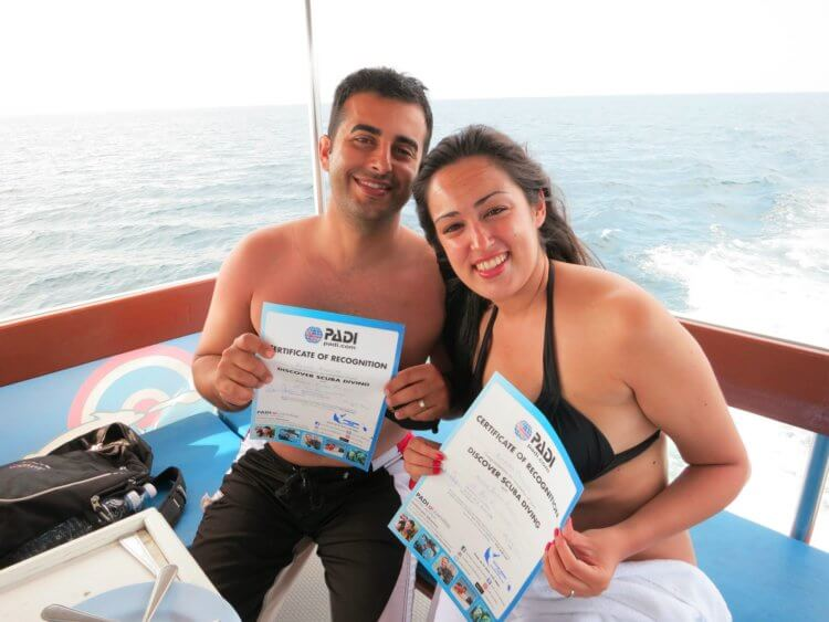 Two Happy Scuba Divers