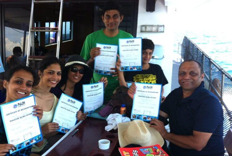 Aussie Divers Phuket Best Scuba Boat Indian Family