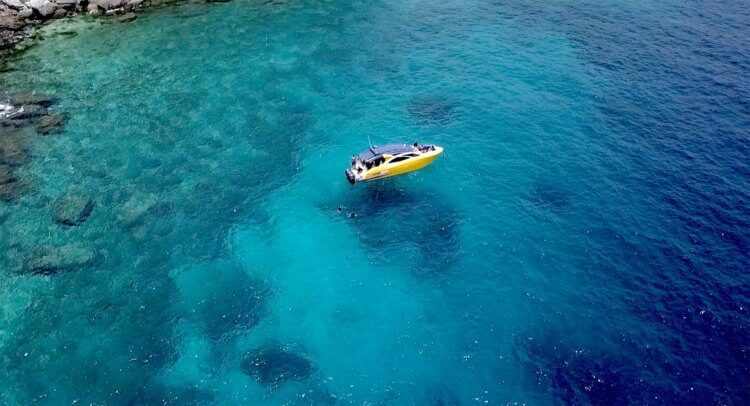 Aussie Divers Luxury Speedboat Scuba Diving Phuket Drone