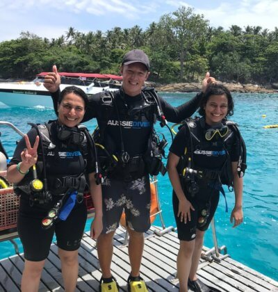 Aussie Divers Phuket Happy Scuba Diving Tom