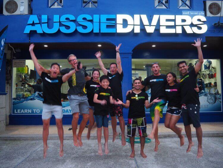Aussie Divers Phuket Best Scuba Boat Girl Jumping
