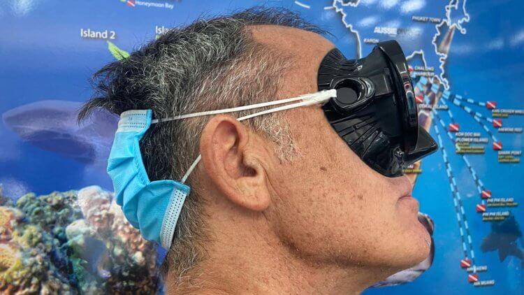 Face Mask Strap Aussie Divers Phuket