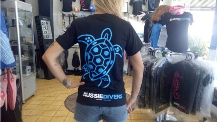 Turtle T-shirt Blue Aussie Divers Phuket
