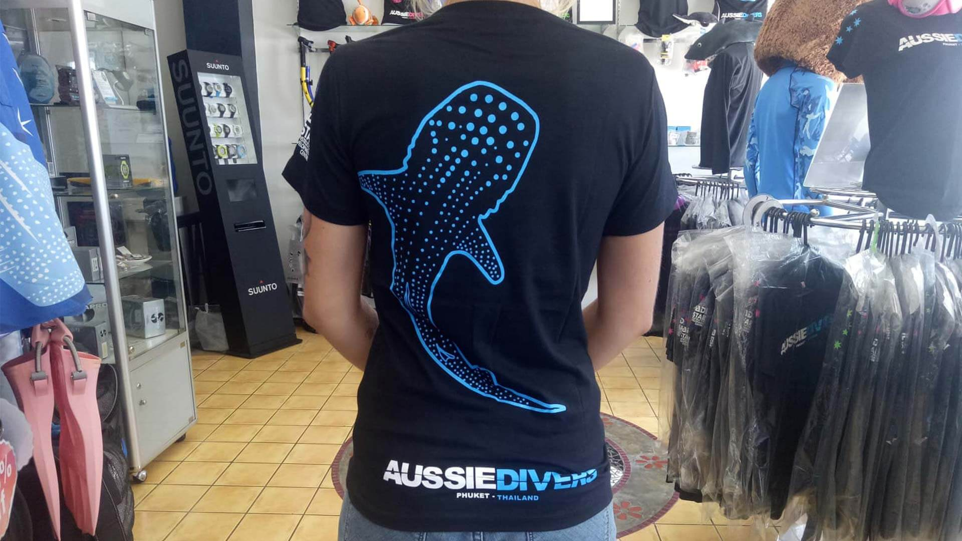 Aussie Divers T-Shirts – Whale Shark Range – Only THB 390