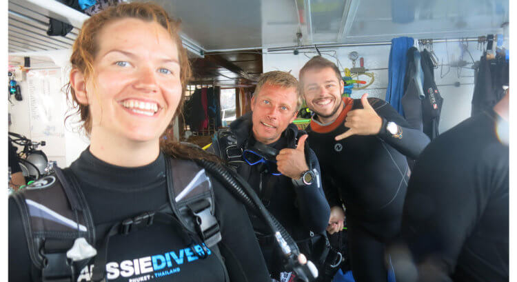 Having Fun With Aussie Divers Phuket