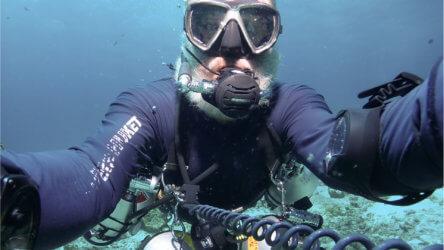 Martin Selfie PADI Sidemount Aussie Divers