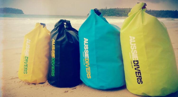 Aussie Divers Phuket Dry Bags