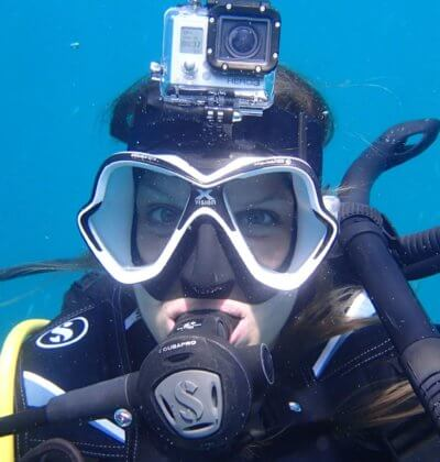 Diver with Gopro in Phuket