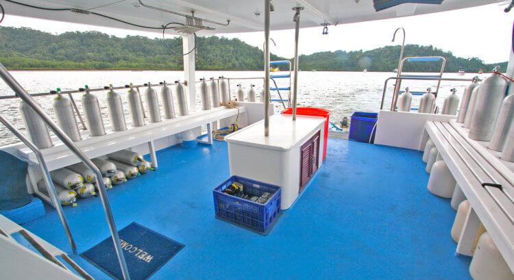 Manta Queen 2 Dive Deck Aussie Divers Phuket