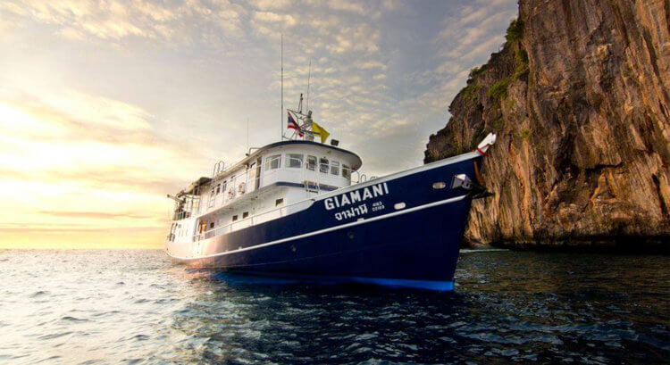 MV Giamani Evening Phi Phi Aussie Divers