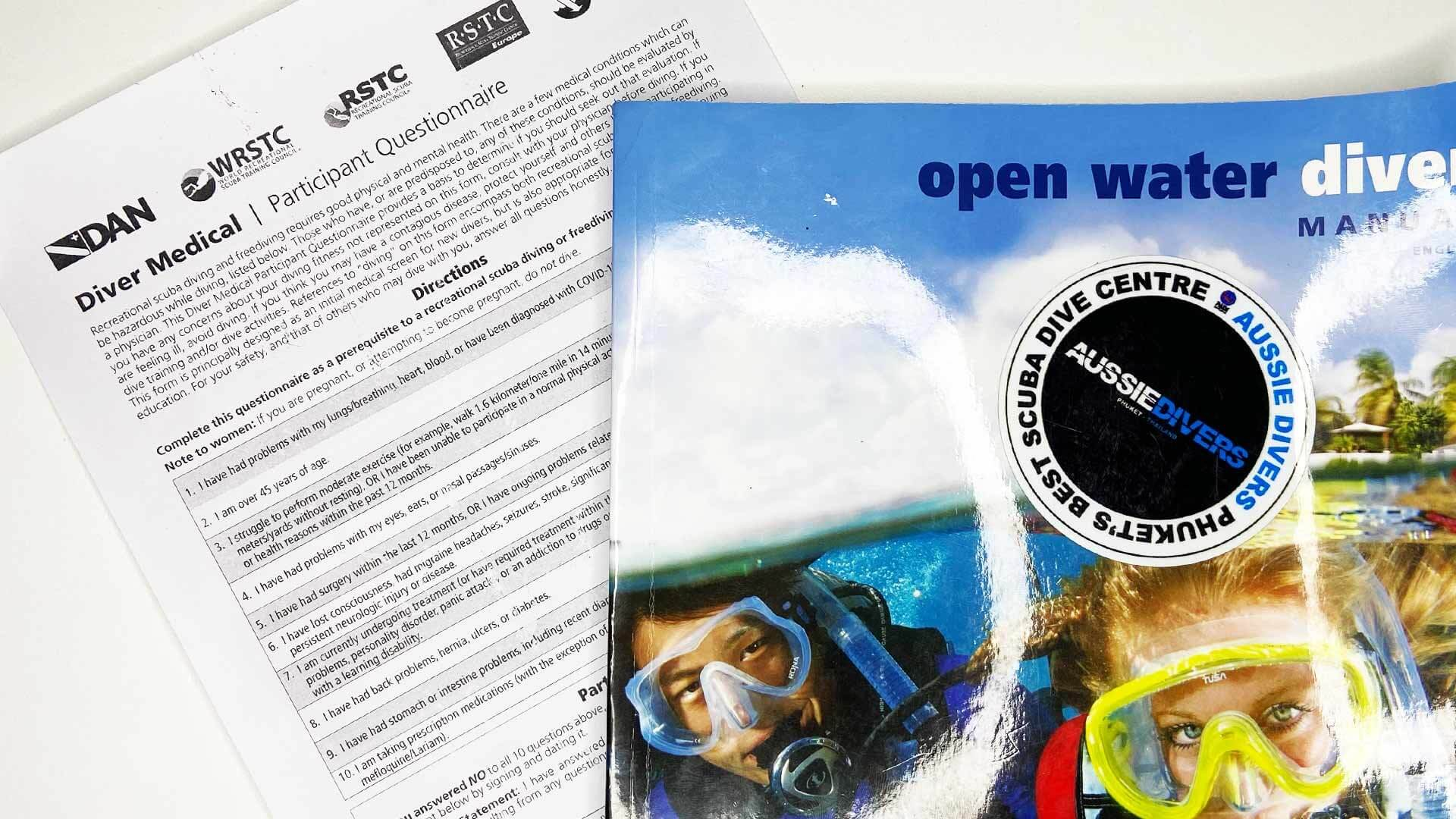 New Diver Medical Questionnaire Released