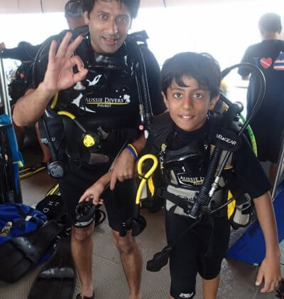 Father and Son PADI Discover Scuba Diving