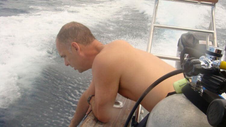 Seasick Scuba Diver Rough Seas
