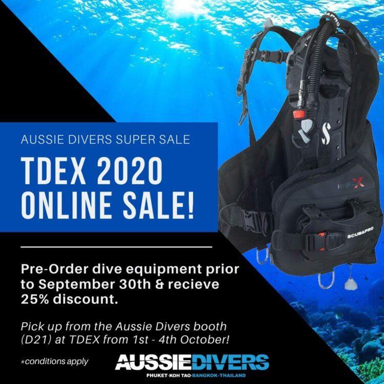 Aussie Divers TDEX Equipment Sale