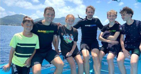 Family Scuba Diving in Koh Tao PADI Open Water